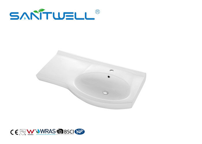 White Rectangular Shape Counter Top Wash Basin Bathroom Wash Basin For Hand Clean